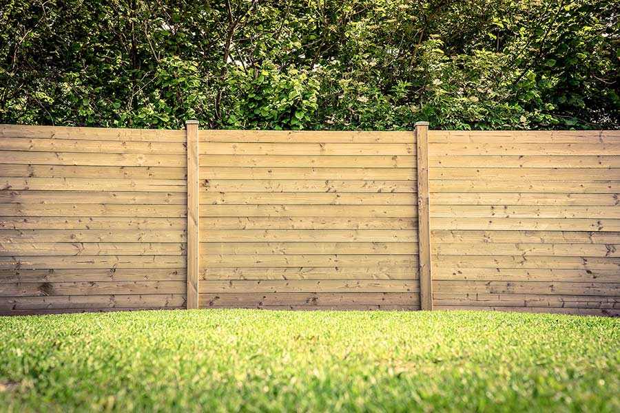 Garden Fence With Grass
